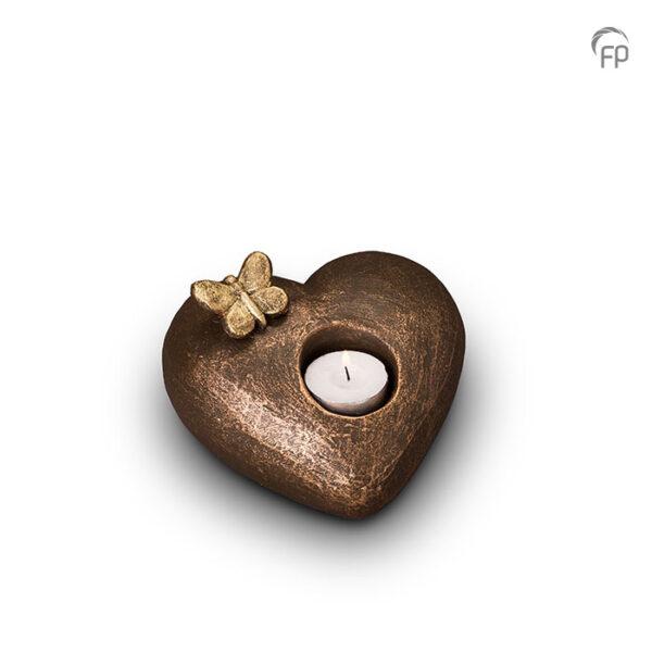 Keramische urn brons Tederheid (waxine)